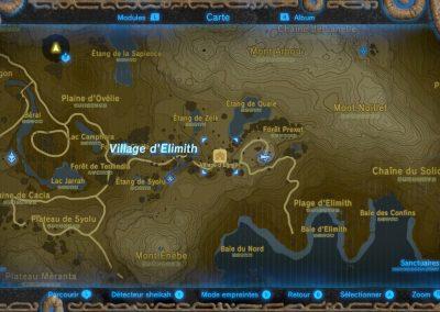 Emplacement du village d'Elimith
