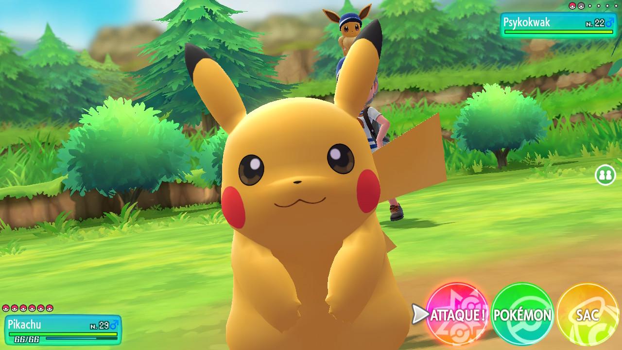 Un combat avec pikachu