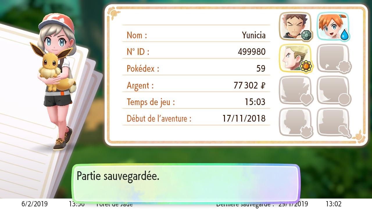 Yunicia et Evoli - Pokemon let's go