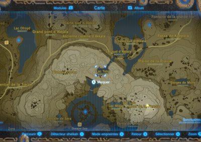 Carte du Lac Toto