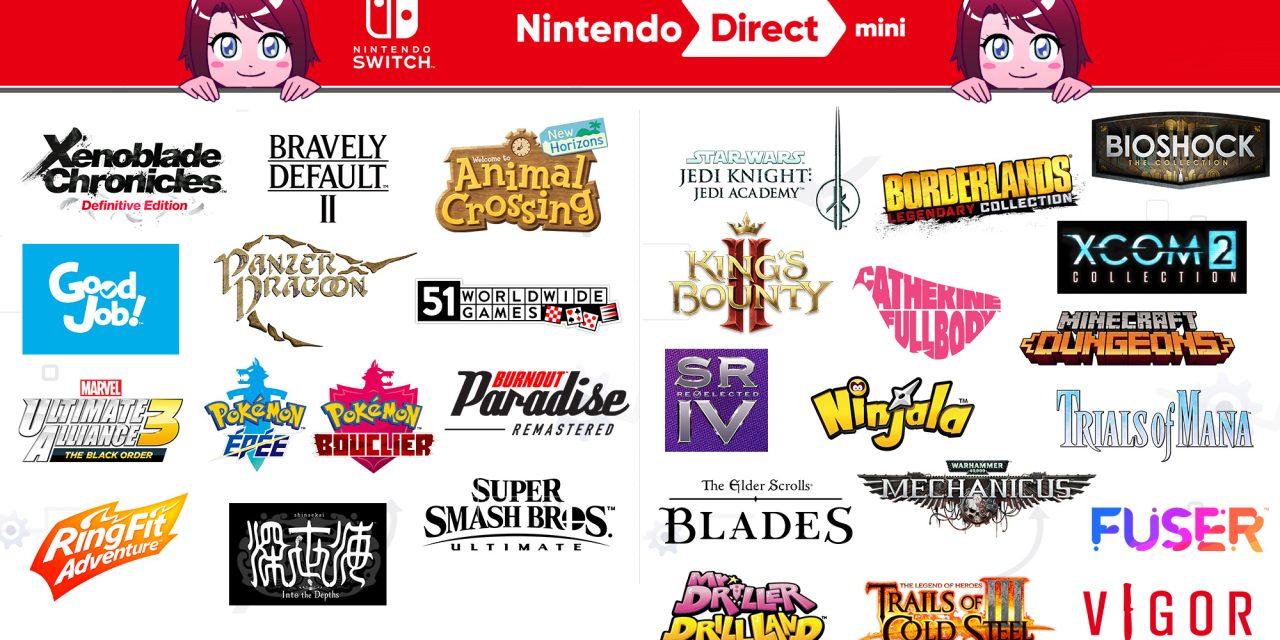 Retour sur le Nintendo Direct Mini du 26 mars 2020